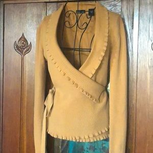 Fall Color Cozy Wrap Cardigan Sz S